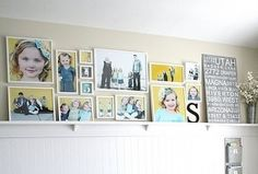 Photo collage wall shelf by deidre
