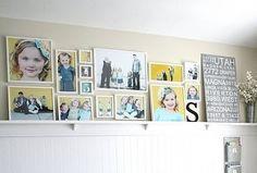 Photo collage wall shelf by deidre