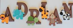 DecorativeLabels by Deniz: Jungle/Safari Themed Wall Letters - Made to Match NoJo Jungle Tales