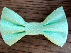 Mint Polka Dot Baby Bow Tie...Toddler Bow Tie by PsInAPod on Etsy, $8.00