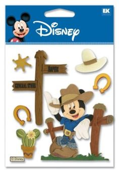 Amazon.com: Disney Western Mickey Dimensional Sticker: Arts, Crafts & Sewing