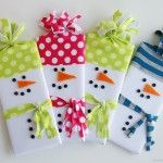 Snowman Wrapped Candy Gifts