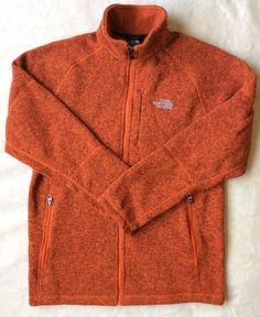 ☀NEW MEN'S The North Face Holata Fleece Zip Coat Jacket Sweater Orange Heather M #TheNorthFace #Capes
