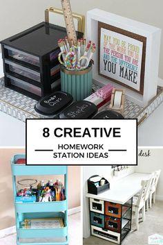 8 ideas to create the perfect homework station - Desk Organizing Ideas
