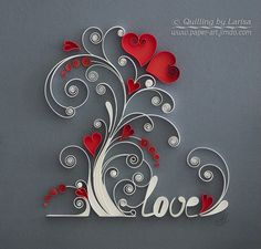 Studio quilling Larissa ambush: Plant Love