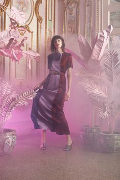 Cynthia Rowley Resort 2016 Fashion Show - Look 3 Fashion Gallery, Fashion Art, Fashion Show, Fashion Design, Cynthia Rowley, Vogue, Silk Charmeuse, Maxi Dress With Sleeves, Resort Wear