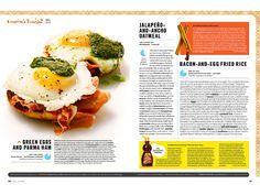 Breakfast - Erin Jang | Portfolio Magazine Design, Food Magazine Layout, Book Design Layout, Menu Design, Editorial Layout, Editorial Design, Drink Recipe Book, Publication Design, Esquire
