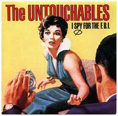 I Spy For The F.B.I. b/w Whiplash The Untouchables, Stiff Records/UK (1985)