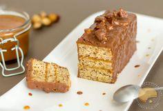 la Tuerie du jour : Moelleux aux #noisettes et #caramel au beurre salé chez Sucre d'orge et pain d'épices