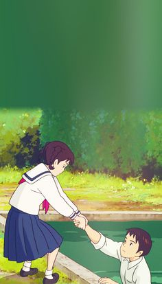 Just put your hand in mine — From Up On Poppy Hill phone backgrounds. Studio Ghibli Art, Studio Ghibli Movies, Create Anime Character, Studio Ghibli Background, Up On Poppy Hill, Studio Ghibli Characters, Japanese Animated Movies, Old Anime, Arte Disney