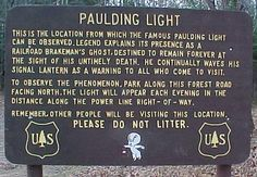 Have you ever seen the Paulding Light? To see this spectral spectacle, take Highway 45 from Watersmeet to Robbins Pond Road until you hit the parking area. Most Haunted Places, Upper Peninsula, Ghost Hunting, Ghost Stories, Spooky Stories, Great Lakes, Ghost Towns, Oh The Places You'll Go, Paranormal
