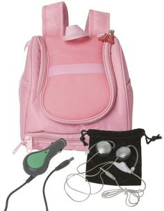 Edutainment Solutions Go Play Pak Pink V.Smile by Edutainment Solutions Inc. $26.67. Includes a DC car power adapter to power on the go. Sturdy Pink Neoprene backpack with storage for all of your games and accessories. Includes headphones with volume control with pouch. Back pack has adjustable straps to fit to your size. Screen saver to protect your screen and a cleaning pad. From the Manufacturer                Pink Neoprene backpack with accessoires. Includes V.Smil...