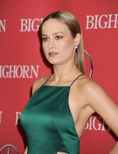 Brie Larson goes braless in green dress for Palm Springs Film Festival Brie Larson goes braless in green dress for Palm Springs Film Festival,Brie Larson Minimalist: The dress didn't leave much to the imagination.