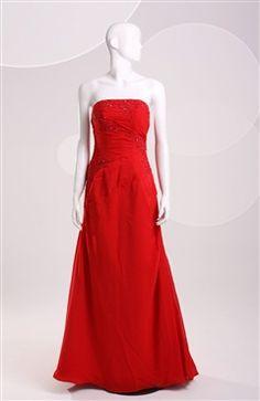 A-line Strapless Floor-length Sleeveless #Prom #Dress Style Code: 06624 $109