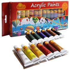 Acrylic Paint Set - Premium 12 Colors x 12ml (0.4 oz) Tub... https://www.amazon.com/dp/B01G8X0ROQ/ref=cm_sw_r_pi_dp_x_fur-xb94Q400R