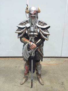 The Nord from The Elder Scrolls Online standing guard!!!