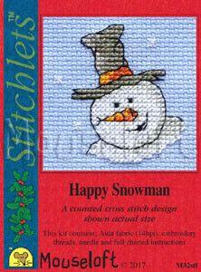 MOUSELOFT STITCHLETS CROSS STITCH KIT ~ CHRISTMAS SCARF FOX ~ CHRISTMAS ~ NEW