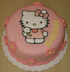 hello kitty cake so want this for my birthday!!! It even has my name on it!!! :D