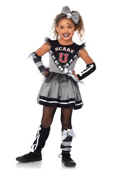 "LAC49055 Scare ""U"" Cheerleader Fancy Dress Costume #fast #halloween #fancydress #costumes #costumesforkids"