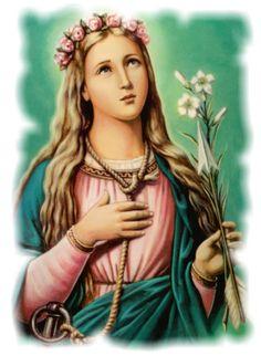 Santos, Beatos, Veneráveis e Servos de Deus: SANTA FILOMENA DE ROMA, Virgem e Mártir
