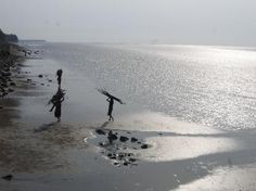 Chandipur is a well known city of Orissa. During low tides the sea water moves back 5 km from the shore.