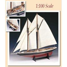 Bluenose 1:100 Amati Model Ship Kit Model Ship Kits, Model Ships, Wooden Boat Plans, Wooden Boats, Fishing Yachts, Fishing Vessel, Carpentry Skills, Build Your Own Boat, Pontoon Boat