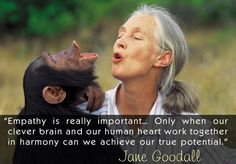Wonderful quote from Jane Goodall about the power of empathy. http://on.fb.me/1COMTbC @JaneGoodallInst