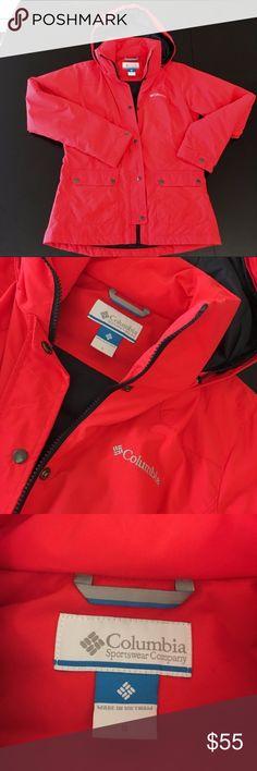 Columbia winter jacket Columbia winter jacket. VEUC. Worn twice. Orangeish-Red color. Columbia Jackets & Coats