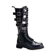Demonia - Gravel 23 Boot - - Demonia ($5.36) ❤ liked on Polyvore featuring shoes, boots, demonia, demonia footwear, demonia shoes and demonia boots