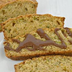 I am looking for ways to work more protein, fruits and vegetables into my diet (and my family's diet). This easy protein zucchini bread has been a huge hit with my entire family. You can serve it on its own or dress it up with a chocolate glaze as an easy way to add veggies and protein to breakfast or a snack. It's a sweet bread with a very subtle peanut butter flavor. My family doesn't even realize that they're getting extra veggies and protein, they just know they love the taste.