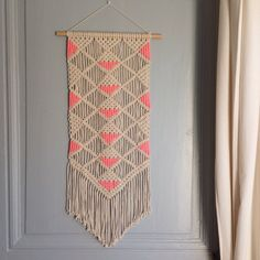 Wall hanging macrame tapestry deco decoration by MadeInCottoncity