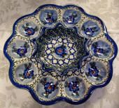 Polish Pottery deviled egg dish