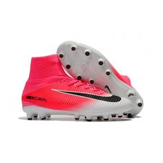 promo code 863f7 5cf05 Best 2017 Nike Mercurial Superfly V AG-Pro Mens White Pink Soccer Shoes   futboloutfitwoman