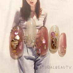 Fancy Nails, Love Nails, Pretty Nails, My Nails, Japanese Nail Design, Japanese Nail Art, Mani Pedi, Nail Manicure, Self Nail