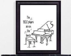 Joueur de piano cite - cadeau amoureux de Piano - musique enseignant-cadeaux - cadeaux de professeur de Piano - pianiste Don - les meilleurs joueurs sont sur le banc