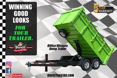 Get Winning Good Looks for your trailer with BWise Trailers. Dump Trailers, Trailer Plans, Innovation, House Plans, How To Plan, Building, Dump Trucks, House Plans Design, Buildings