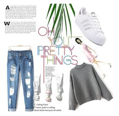 """""""Untitled #80"""" by nadina-2001 ❤ liked on Polyvore featuring adidas"""