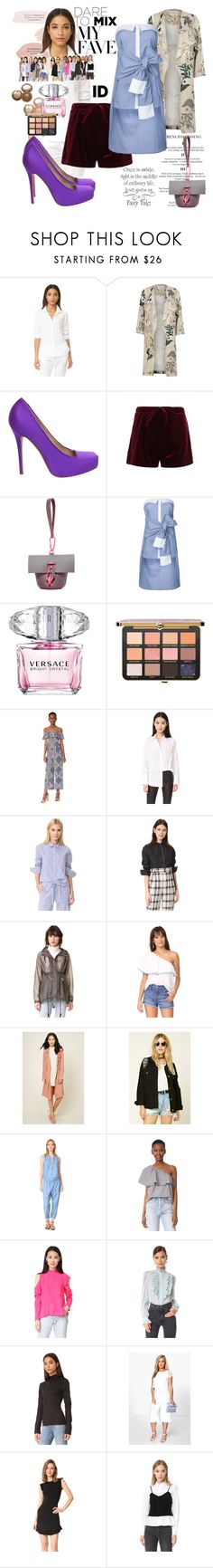 """""""Today Will Be Different"""" by black-wings ❤ liked on Polyvore featuring Xirena, River Island, Alexander McQueen, ZAC Zac Posen, CO/MUN, Too Faced Cosmetics, Versace, L'Agence, The Fifth Label and Anine Bing"""
