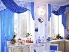 Ламбрекены для кухни - сочетание роскоши и декоративности