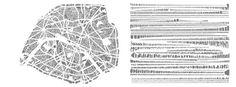Armelle Caron cuts apart city block and organizes them into neat rows. Here: Paris Paris Map, Paris City, Paris France, City Ville, Plan Paris, Critique D'art, Impression Textile, Armelle, City Block