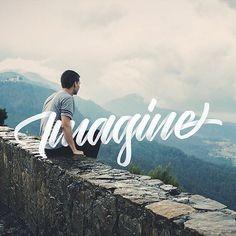 Typography & Lettering Design @typostrate Imagine  by @ska...Instagram photo   Websta (Webstagram)