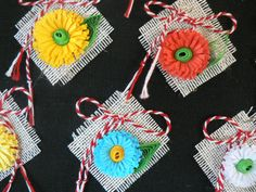 martisoare Spring Projects, Projects To Try, Diy And Crafts, Crafts For Kids, Crafty Craft, Paper Quilling, Polymer Clay, Crochet Earrings, Creative