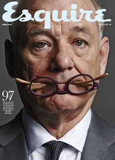 George Clooney and Bill Murray appear on the cover of Esquire's May 2016 issue (on newsstands April photographed by Nigel Parry. A couple of Film Blade Runner, Scott Caan, Williams James, Celebrity Portraits, Celebrity Headshots, Actor Headshots, Male Portraits, Portrait Ideas, Indie Movies