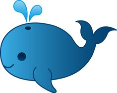 My free clip art of a little blue whale