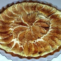 Rahka-Omenapiirakka - Kotikokki.net - reseptit Finnish Recipes, Yummy Eats, Dessert Recipes, Desserts, I Love Food, Apple Pie, Tart, Goodies, Food And Drink