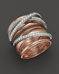 Diamond Ring in 14K Rose Gold, .80 ct. t.w.  LOVE THIS ONE!