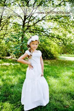 Beautiful Vintage Stylized White Ruffled Dress with by LaParisLaur, $48.00