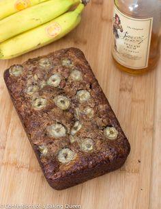Bananas Foster Banana Bread- www.confessionsofabakingqueen.com