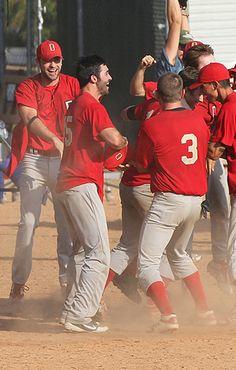 Tyler Hoechlin in a baseball uniform. HELLO.