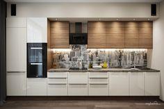 Кухня-гостиная в двухкомнатной квартире в Баварии